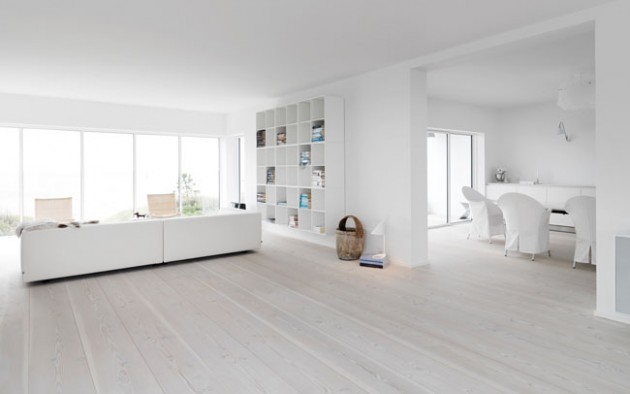 Scandinavian White Wood Floor